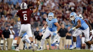 Linebacker Jeff Schoettmer (10) wants to see the Tar Heels create turnovers--something they failed to do last week. (UNC Athletics)