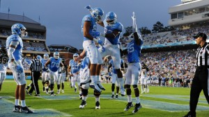 There was plenty of celebrating going on for the Tar Heels on Saturday. (UNC Athletics)