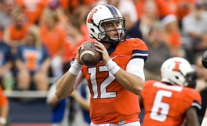 Illinois quarterback Wes Lunt has helped his team stay strong while going through a bit of coaching turmoil.
