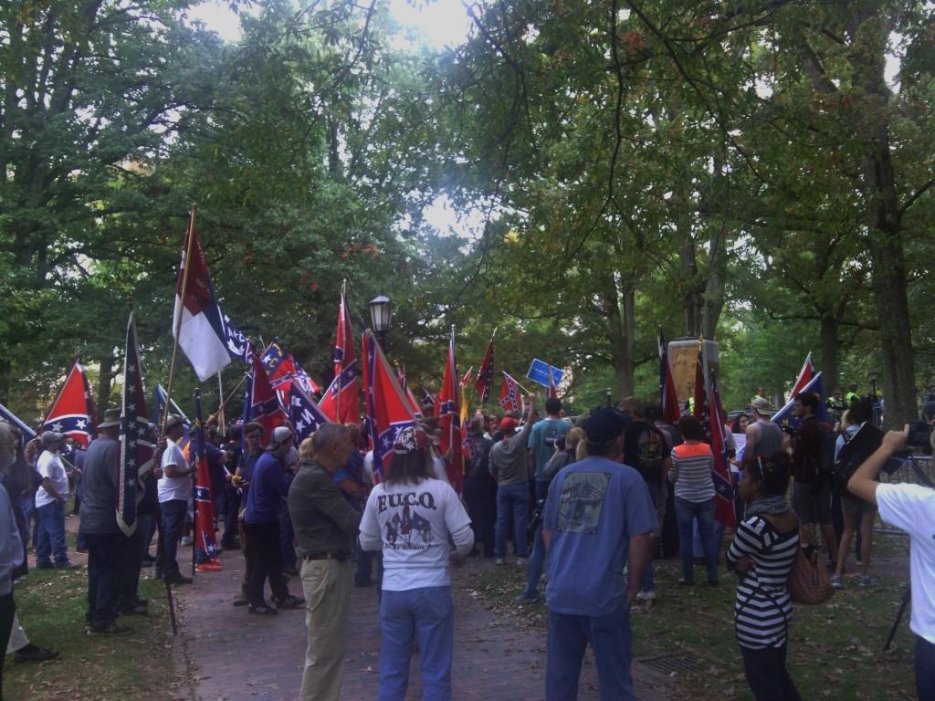 Confederate rally Silent Sam UNC 10/25/15 05
