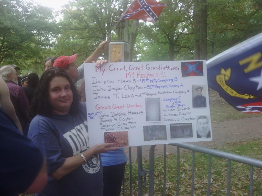 Confederate rally Silent Sam UNC 10/25/15 03
