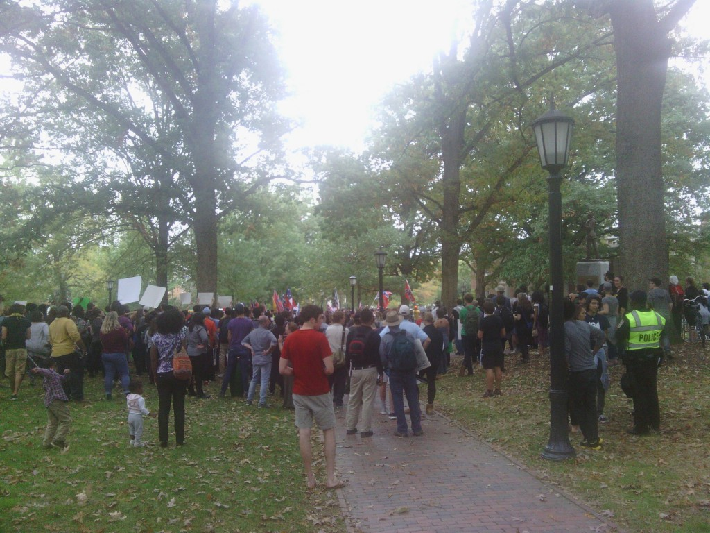 Confederate rally Silent Sam UNC 10/25/15 02