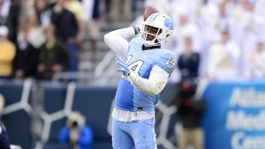 Quinshad Davis completed the comeback with this touchdown toss to Marquise Williams. (UNC Athletics)