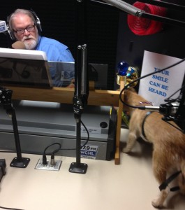 Ron and Leah in the WCHL studio.