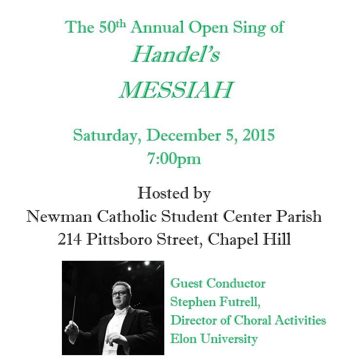 Annual Open Sing of Handel's Messiah 2015