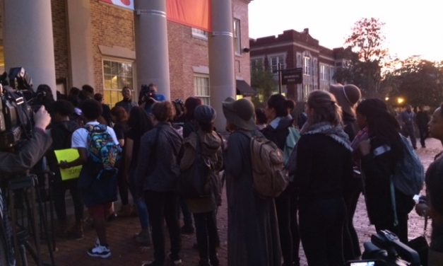 UNC Town Hall Interrupted By Protest