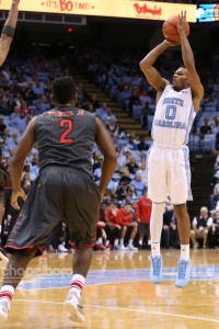 Nate Britt matched his career-highs in both points and three-pointers made against Fairfield. (Todd Melet)