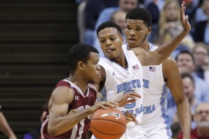 Nate Britt (0) is expected to split time with sophomore Joel Berry in place of Paige at point guard. (Todd Melet)