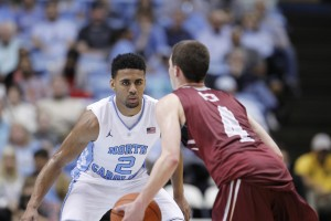 Joel Berry (2) opened up some eyes with his stellar play at point guard on Friday. (Todd Melet)