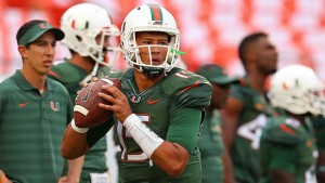 Brad Kaaya will present the Tar Heel defense with a stiff challenge. (Getty Images)