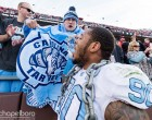 The Tar Heels celebrate the Coastal Division championship. (Smith Cameron Photography)