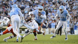 Marquise Williams (12) has already put his name among the greatest quarterbacks in UNC history. (UNC Athletics)