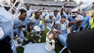 The 2015 group gets to hold on to the Victory Bell for another year. (UNC Athletics)