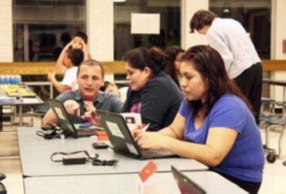 Students at Frank Porter Graham Receive Laptops