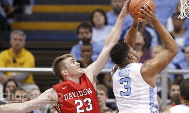 UNC Forward Meeks Out with Bruised Knee