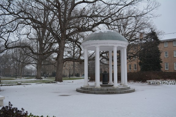 University of North Carolina snow and ice