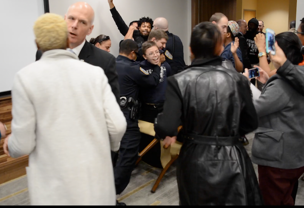 Protesters Arrested at UNC Board of Governors Meeting