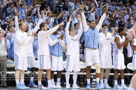 The North Carolina men's basketball team is up one spot to number ...