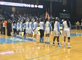 UNC Women's Basketball. Photo via Nicole Caporaso.