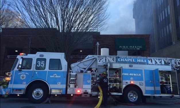 Fire Closes Rosemary Street Tuesday Afternoon