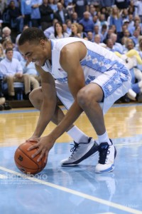 Brice Johnson (pictured) and Marcus Paige have yet to win a conference title or a game in Cameron Indoor Stadium. (Photo via Todd Melet)