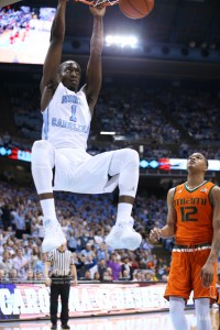 Theo Pinson says this team is more mature than last year's--with this game being proof. (Todd Melet)