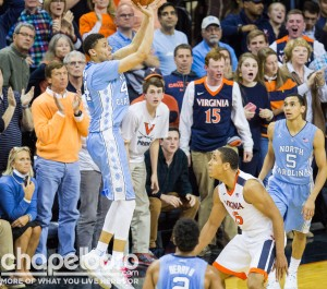 Justin Jackson scored 12 points against Virginia, but it would not be enough. (Smith Cameron Photography)