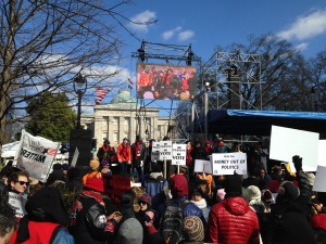 Moral March with State Capitol in background