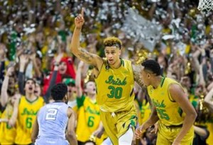 Notre Dame forward Zach Auguste dominated the glass all night. (AP Photo/ Robert Franklin)