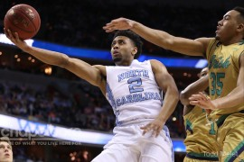 Joel Berry had 12 points, including a pair of three-pointers, in the game. (Todd Melet)