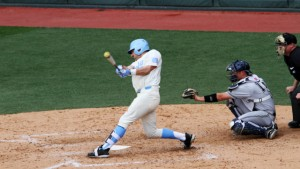 Zack Gahagan drove in four runs for UNC as the Tar Heels defeated his cousin, Duke starting pitcher Bailey Clark. (Joe Bray/ UNC Athletics)