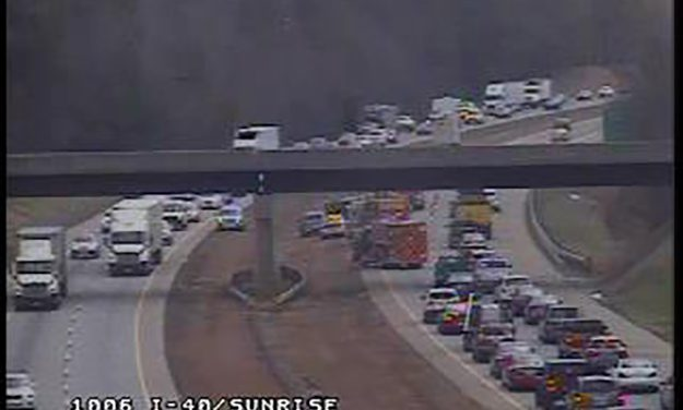 Earlier Accident Blocked Left Lane on I-40 East in Chapel Hill