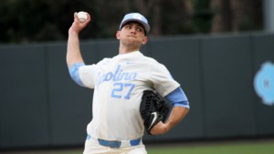 UNC righty Jason Morgan struggled to find his control against the Pitt lineup--giving up 5 ER in 4.1 IP. (Joe Bray/ UNC Athletics)