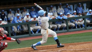 Junior right fielder Adam Pate was one of two Tar Heels to pick up two hits in the game. (Joe Bray/ UNC Athletics)
