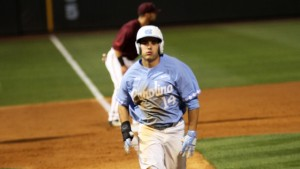 Tyler Ramirez had two RBIs against South Carolina and was one of eight Tar Heels to drive in a run. (Joe Bray/ UNC Athletics)
