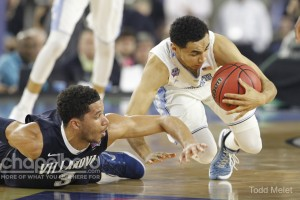 The Tar Heels rallied to tie the game after being 10 points down with five minutes to go .(Todd Melet)