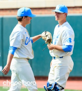 Seven pitchers saw action for UNC on Sunday, with none going longer than two innings. (Smith Cameron Photography)