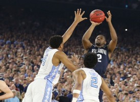 Villanova forward Kris Jenkins--the brother of UNC's Nate Britt--sank a three-pointer at the buzzer to knock off the Tar Heels in Monday's National Championship Game. (Todd Melet)
