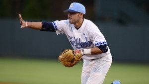 Zack Gahagan started at third base for UNC against High Point--finishing 1-for-2 at the plate with an RBI. (Jeffrey A. Camarati/ UNC Athletics)