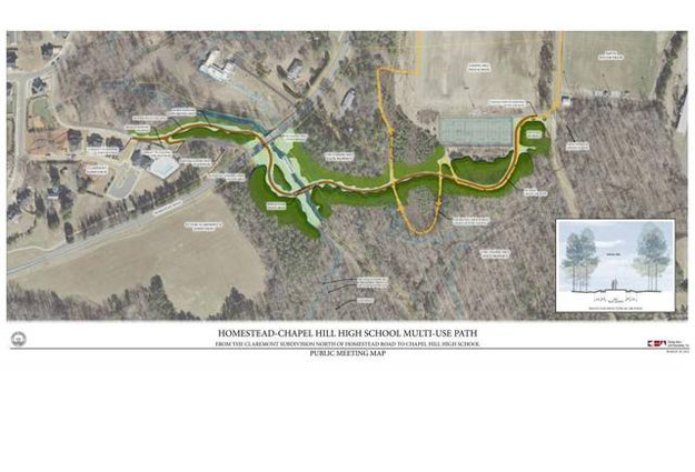 Homestead-Chapel Hill High Greenway Nears Completion
