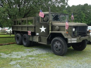 Military vehicles on display (Photo by Chris Grunert)