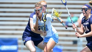 Aly Messinger scored two goals and had two assists in UNC's win over Penn State. (Jeffrey A. Camarati/ UNC Athletics)