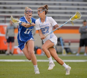 Aly Messinger had two goals against Duke in the NCAA Tournament, including one during UNC's second half surge. (TheACC.com)