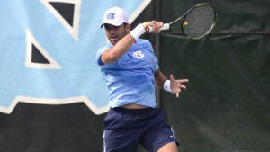 Anu Kodali, a freshman, played a part in two of UNC's four team points against Tulane. (Jeffrey A. Camarati)