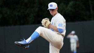 JB Bukauskas provided UNC with another fantastic start on Saturday against Notre Dame. A lack of run support likely cost him his seventh win of the year. (Joe Bray/ UNC Athletics)
