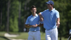 Jenkins (right) led the Tar Heels in 2016 by finishing 14 of his 32 rounds under par. (Jeffrey A. Camarati/ UNC Athletics)