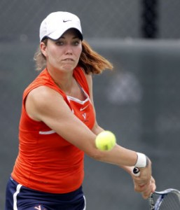 Danielle Collins, a former NCAA champion in singles competition, played a large role in Virginia's doubles victory. (Dailyprogress.com)