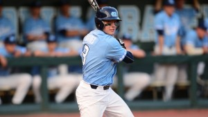Freshman Kyle Datres reignited the Tar Heel offense on Monday with his 3-for-4 performance in an 8-1 win over Notre Dame. (Jeffrey A. Camarati/ UNC Athletics)