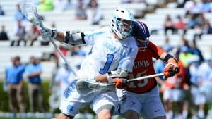 Luke Goldstock scored 50 goals last season for UNC--mostly off assists from Joey Sankey and Jimmy Bitter. This year, a switch in style has seen his goal total cut in half. (Jeffrey A. Camarati/ UNC Athletics)