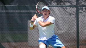 Brayden Schnur played a role in two of UNC's four team points on Friday. (Jeffrey A. Camarati/ UNC Athletics)